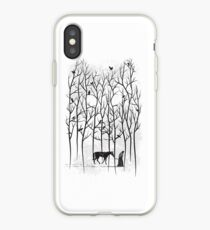 Snow and Ghost Amongst Crows iPhone Case