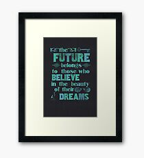 Future - light blue Framed Print