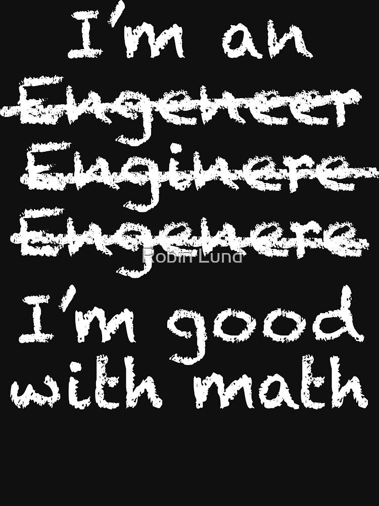 Engeneer Chalkboard Style | Unisex T-Shirt