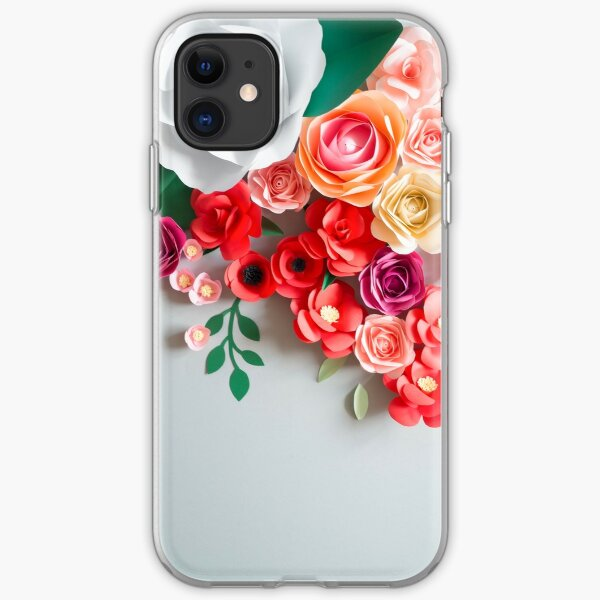 Papierblumen iPhone Flexible Hülle