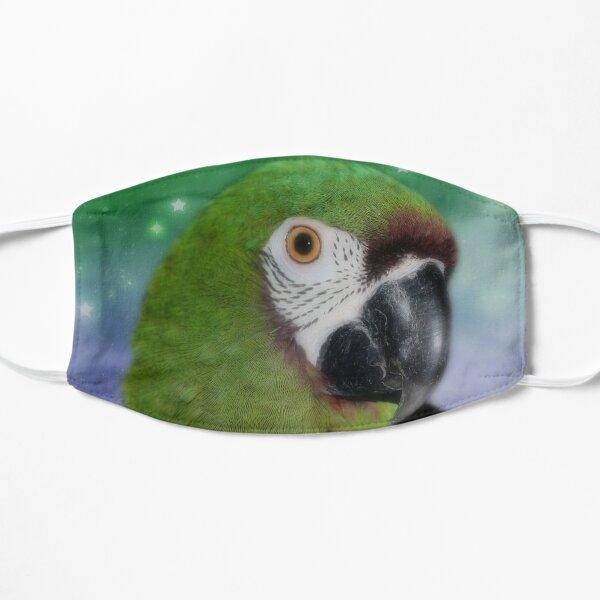 Green Severe Mini Macaw Parrot Flat Mask