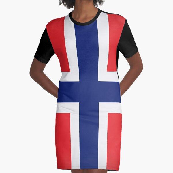 leo • theo | Norwegian Flag Graphic T-Shirt Dress