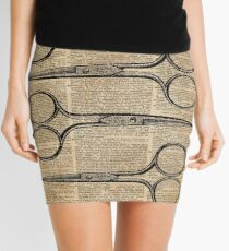 Hairdresser's Scissors Vintage Illustration Dictionary Art Mini Skirt