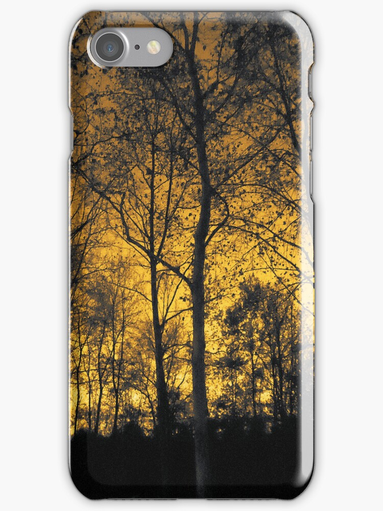 Winter Forest Gold Light by vampyba