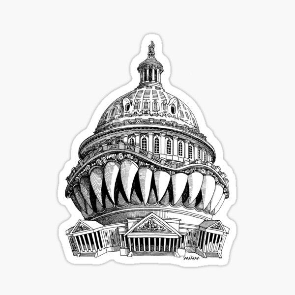 Angry Washington Sticker