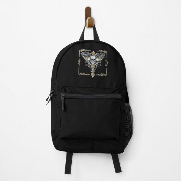 Dark Angel Gothic Skull Cross Backpack