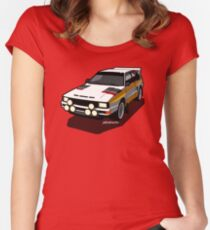 Audi Sport Quattro Ur-Quattro Rally Poster Women's Fitted Scoop T-Shirt
