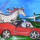 12-12-12 - A Ferrari with handbrake off... by Anthea  Slade