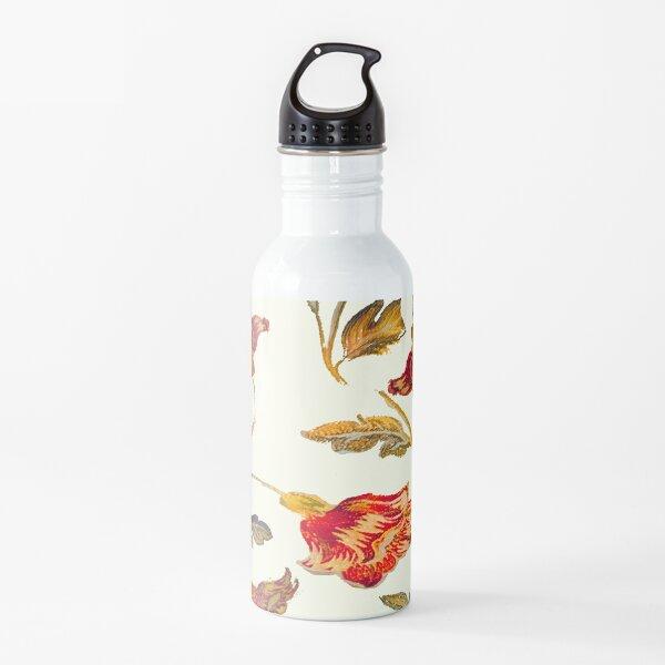 floral pattern on cream Water Bottle
