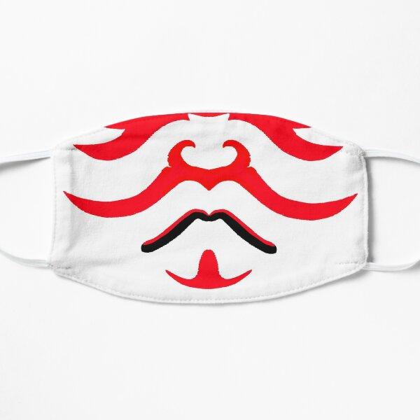 Máscara de Kabuki - Heroe Samurai del Teatro Japonés Mascarilla plana