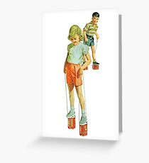 The Simple Life : Tin Can Stilts Greeting Card
