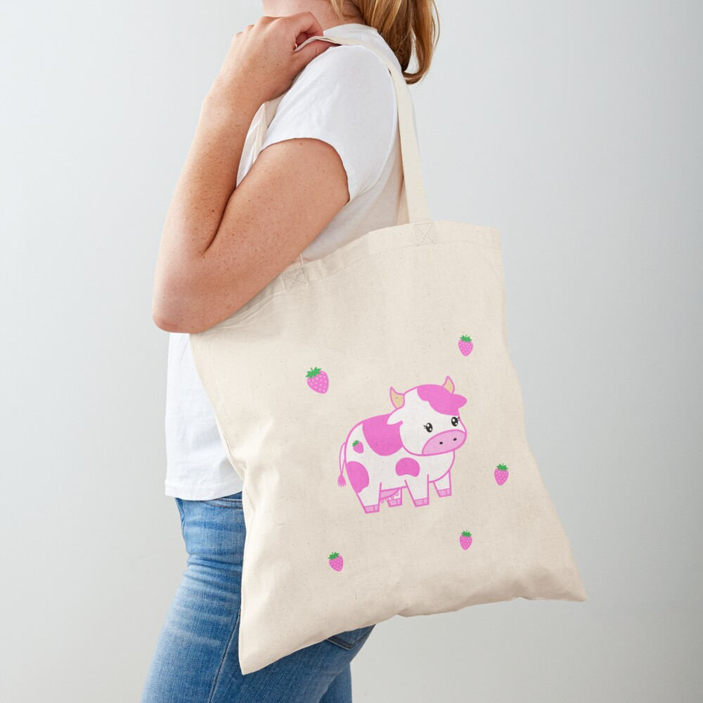 look at you, strawberry cow Tote Bag