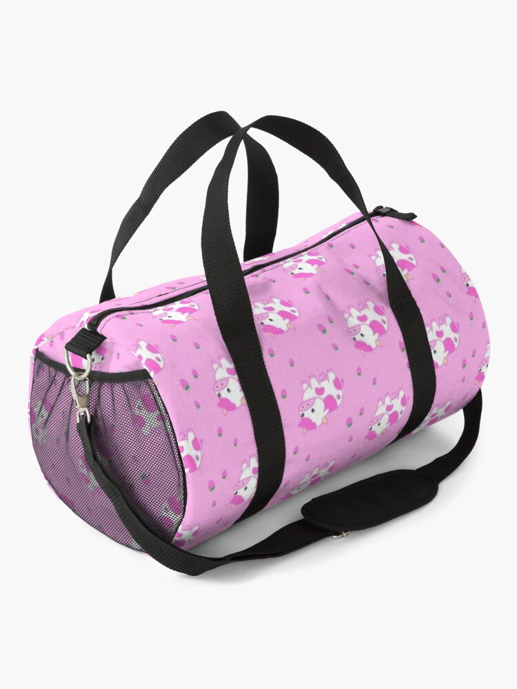 Alternate view of look at you, strawberry cow Duffle Bag