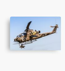 Israeli Air force (IAF) helicopter, Bell AH-1 Cobra in flight Canvas Print