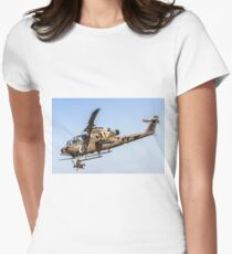 Israeli Air force (IAF) helicopter, Bell AH-1 Cobra in flight Womens Fitted T-Shirt