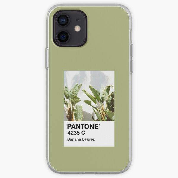 Hojas de plátano Pantone Funda blanda para iPhone