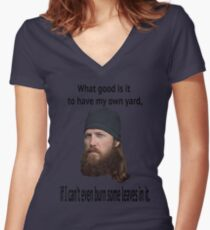 Burn Women's Fitted V-Neck T-Shirt