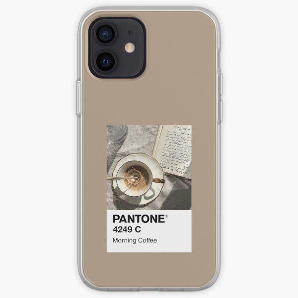 Café de la mañana Pantone Funda blanda para iPhone