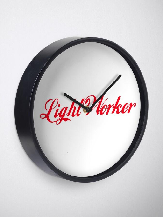 Alternative Ansicht von Lightworker - Lichtarbeiter Uhr