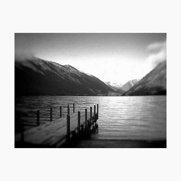 Lake Rotoiti, New Zealand b/w Photographic Print