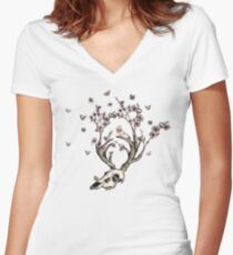 Life 2 - Sepia Version Women's Fitted V-Neck T-Shirt