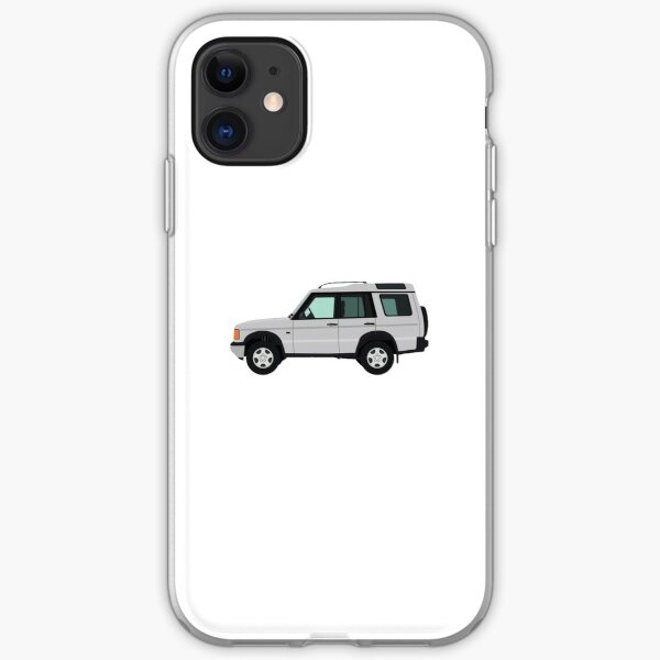 White Land Rover Discovery iPhone Soft Case