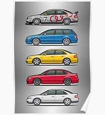 Stack of Audi A4 B5 Type 8d Poster