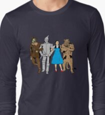 Why does the scarecrow keep saying 'brains'?! Long Sleeve T-Shirt