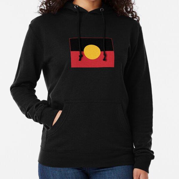 Bandera Aborigen # 3 Sudadera ligera con capucha