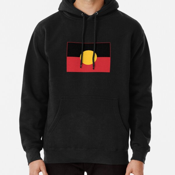 Aboriginal Flag #3 Pullover Hoodie