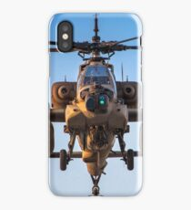 Apache AH-64A (Peten) Helicopter in flight iPhone Case