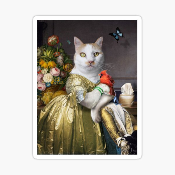 Ginger Tabby Cat Portrait - Carrot Sticker