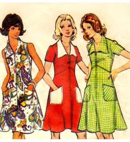Butterick Pattern 3068 : Circa Late 60's / Early 70's Sticker