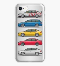 Stack of Audi A4 B5 Type 8d iPhone Case/Skin