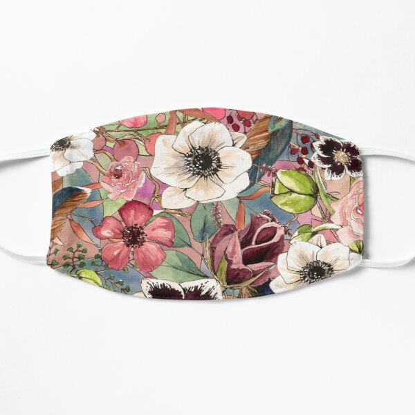 Boho Blumenmuster Maske