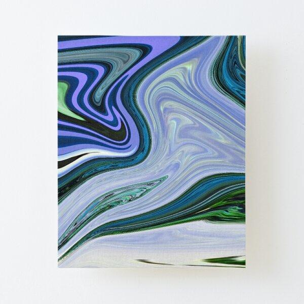 Formes de zèbre bleu Impression montée sur toile