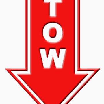 TOW red sticker by thatstickerguy