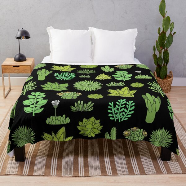 Succulents and cactus. For cacti plant lover Throw Blanket