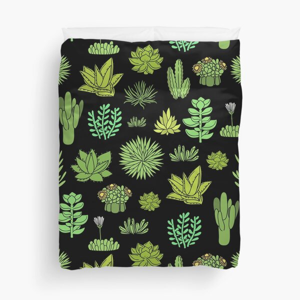 Succulents and cactus. For cacti plant lover Duvet Cover