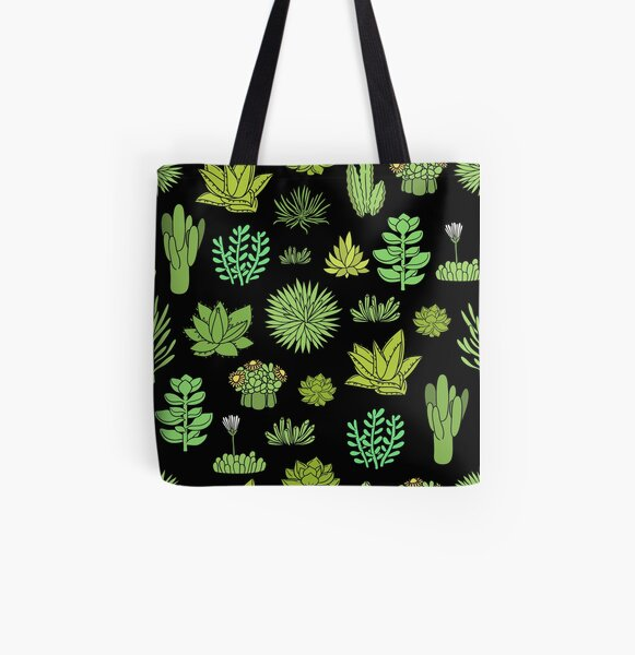 Succulents and cactus. For cacti plant lover All Over Print Tote Bag