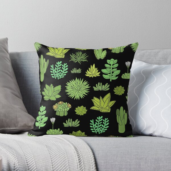 Succulents and cactus. For cacti plant lover Throw Pillow