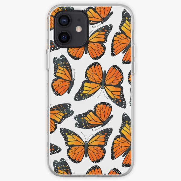 Monarch Butterfly Pattern iPhone Soft Case