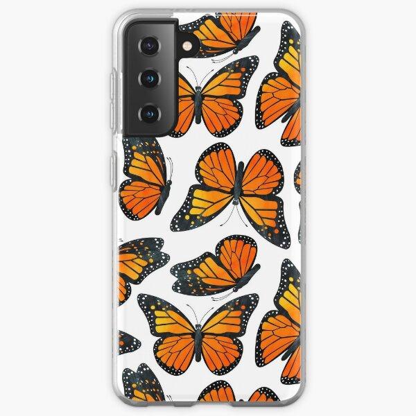 Monarch Butterfly Pattern Samsung Galaxy Soft Case
