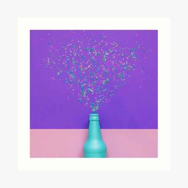 Confetti glittering splashes Art Print