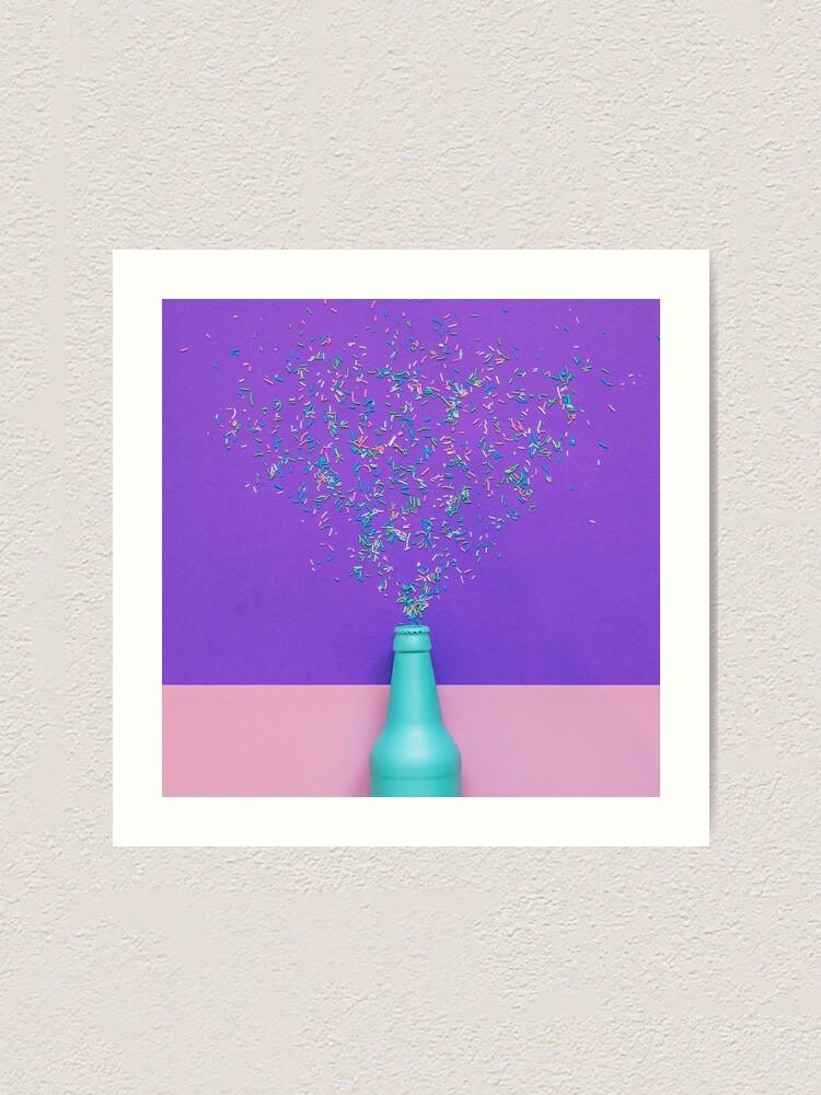 Alternate view of Confetti glittering splashes Art Print