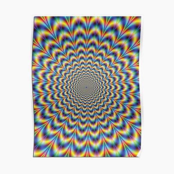 Optical illusion Trip Poster