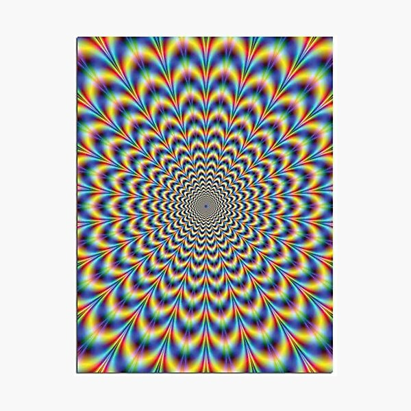 Optical illusion Trip Photographic Print