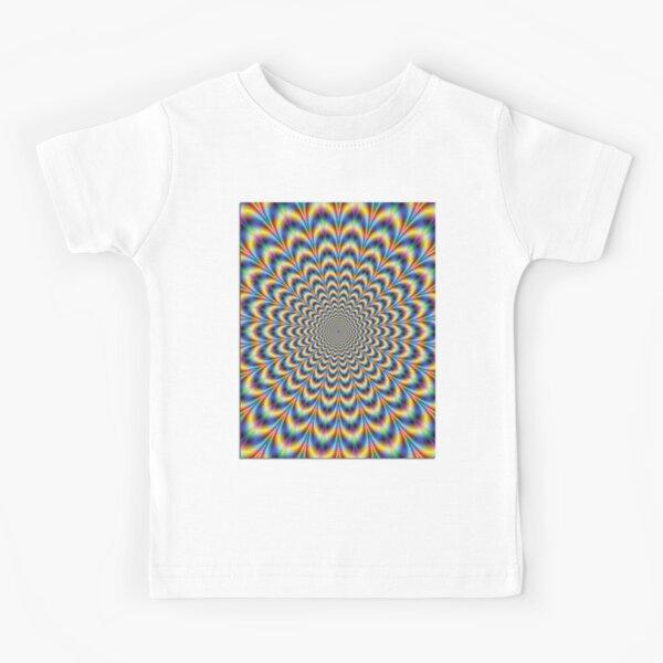 Optical illusion Trip Kids T-Shirt