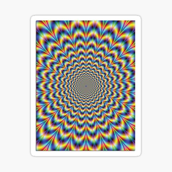 Optical illusion Trip Sticker