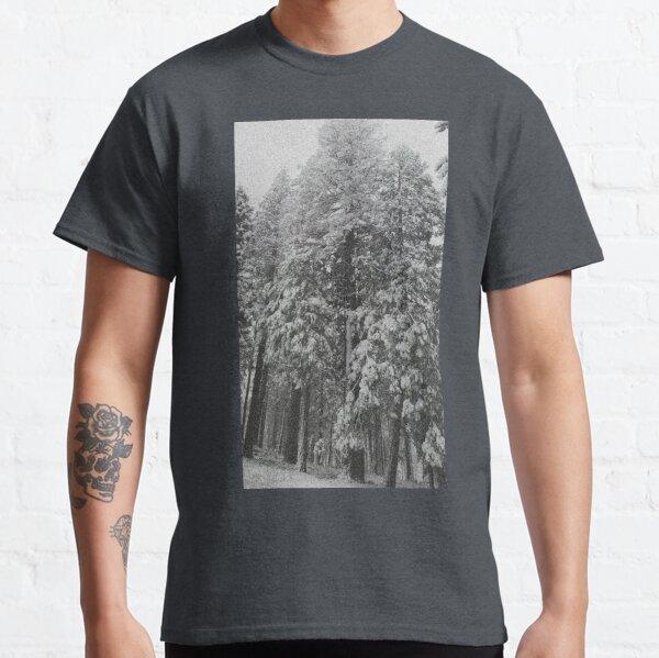 Grey Snowy Trees Classic T-Shirt